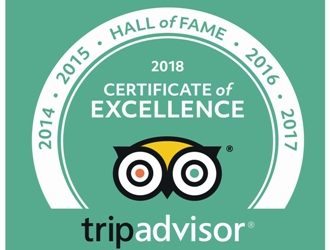 "The only Estancia Tour tripadvisor : ""Hall of Fame"" award for five years"