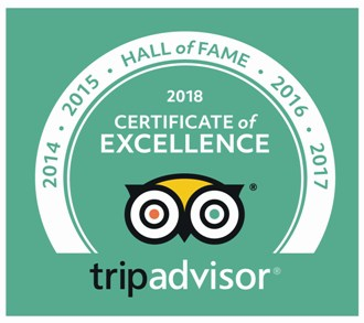 """The only Estancia Tour tripadvisor : """"Hall of Fame"""" award for five years"""